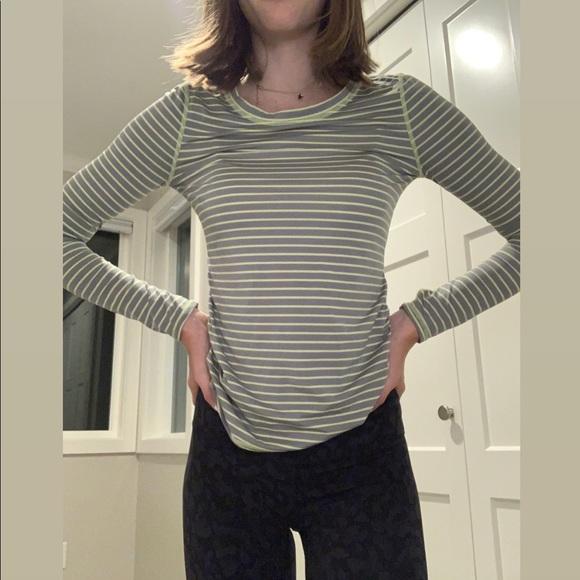 Zella Girl Nordstrom Yellow and Grey Long Sleeve